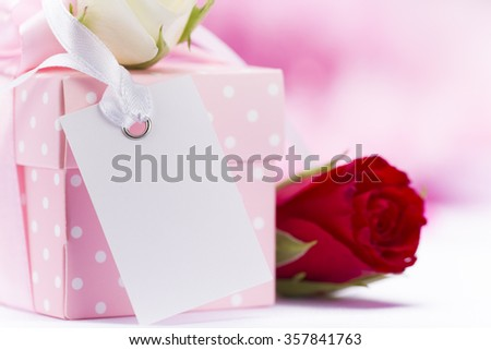 Valentine gift Background.  - stock photo