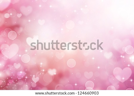 Valentine Hearts Abstract Pink Background. St.Valentine's Day Wallpaper. Heart Holiday Backdrop - stock photo