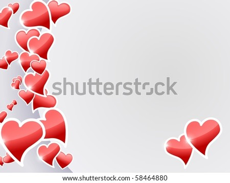 Valentine hearts card. - stock photo