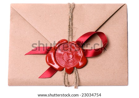 Valentine letter - stock photo