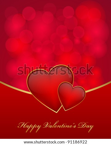 Valentine's day card. Vector available. - stock photo