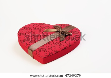 Valentine's day chocolates gift box - stock photo