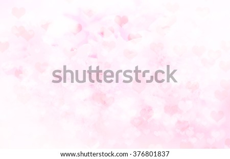 Valentine's day love background flower with hearts - stock photo