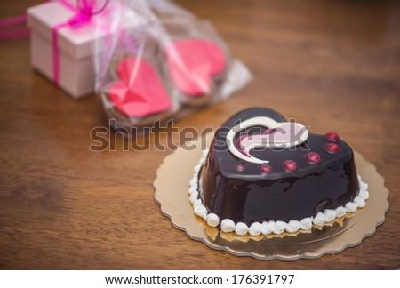 Valentine's day treats and gifts - stock photo