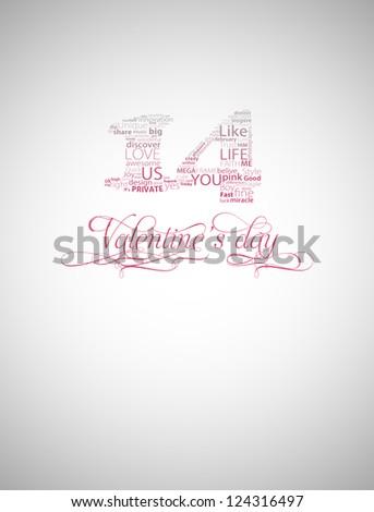 Valentine's day typography - stock photo