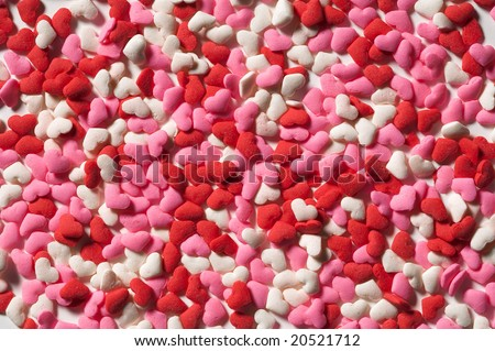 Valentines candy hearts - stock photo