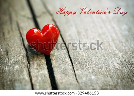 Valentines day background with heart - stock photo