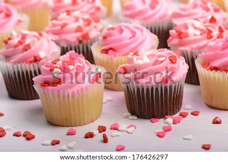 Valentines Day Cupcakes - stock photo