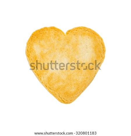 Valentines Day heart shaped cookies ready to decorate isolated on white. Selective focus. - stock photo