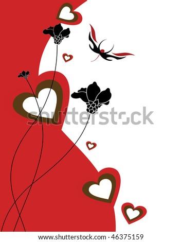valentines day illustration - stock photo