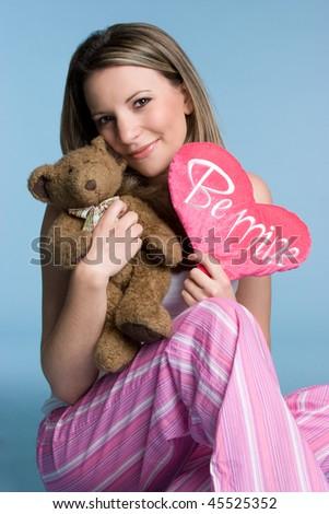 Valentines Girl - stock photo