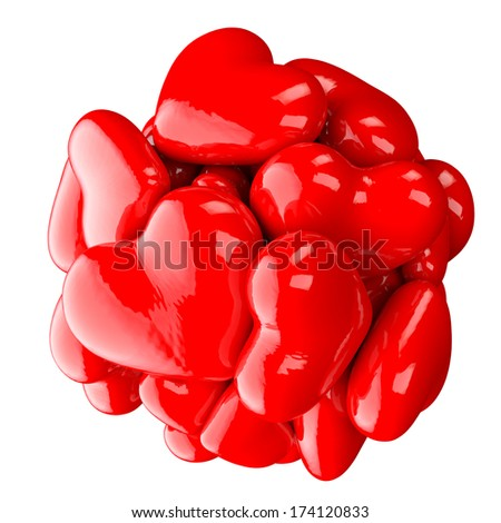 Valentines heart - stock photo