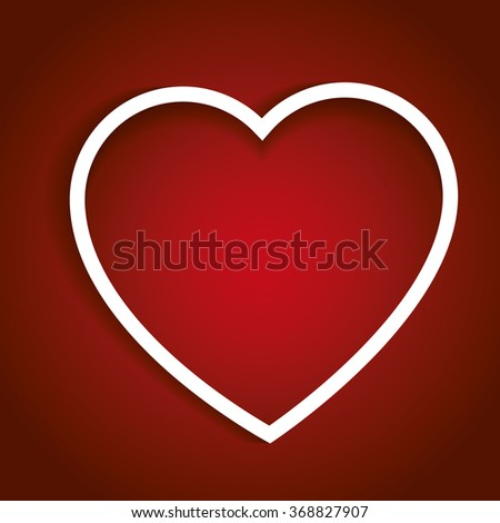 Valentines heart in red. Valentines day, love concept. Love symbol - stock photo