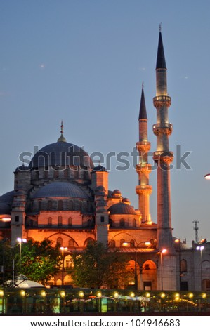 Valide Sultan Mosque most famous as Yeni Cami (built 1597-1663 by Ottoman's) - stock photo