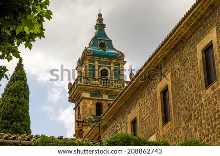 Valldemossa Charterhouse in Spain - stock photo