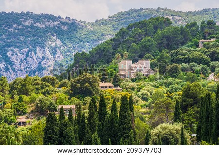 Valldemossa village on Majorca - stock photo
