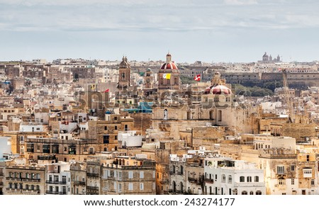 Valletta old maltese city, Malta  - stock photo