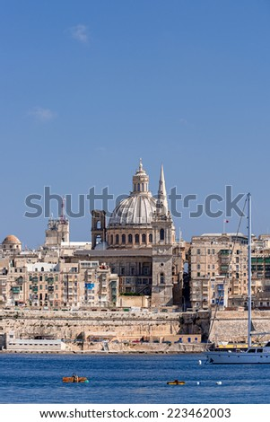 Valletta Skyline at summer day - stock photo