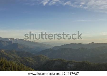 Valley from Blewett Pass - stock photo