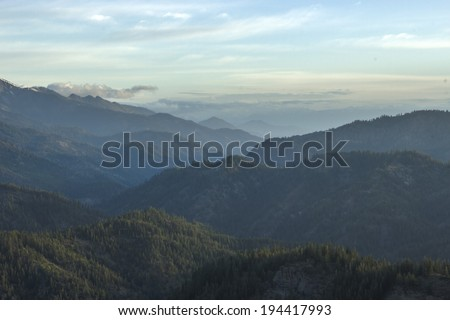 Valley from Blewett Pass - stock photo