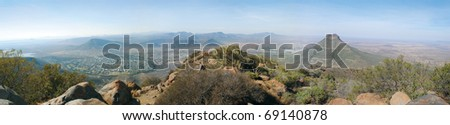 Valley of Desolation, Graaff Reniet, Great Karoo, South Africa - stock photo