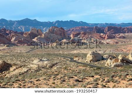 Valley of Fire, near Las Vegas, Nevada  - stock photo