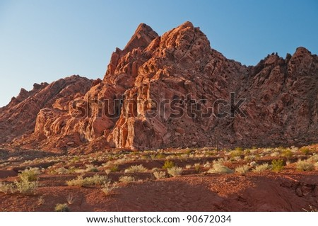valley of fire's fantastic Navajo sandstone formations - stock photo
