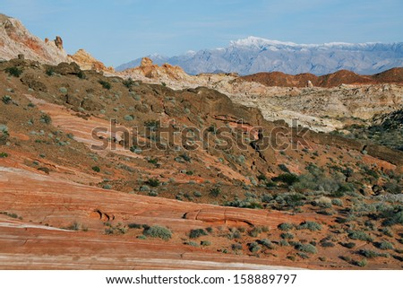 Valley of Fire State Park near Las Vegas Nevada - stock photo