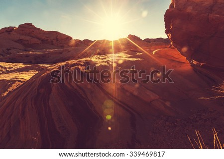 Valley of Fire State Park, Nevada, USA - stock photo