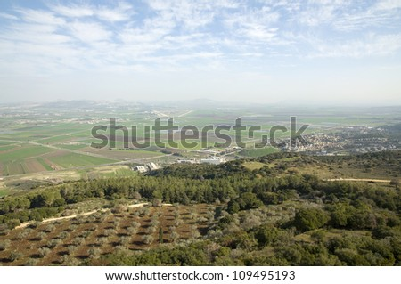 Valley of Jezreel , north Israel - stock photo