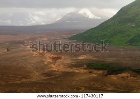 valley of ten thousand smokes - katmai / alaska - stock photo
