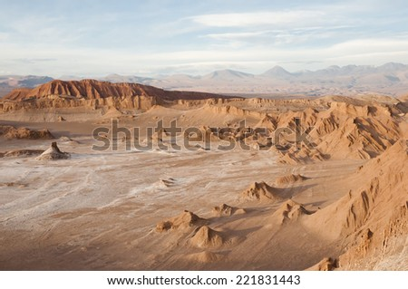 Valley of the Moon - Atacama Desert - Chile - stock photo
