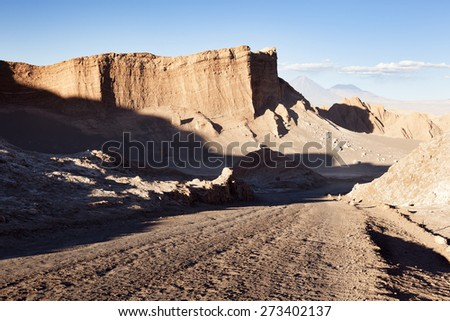 Valley of the moon, Atacama Desert. North Chile - stock photo