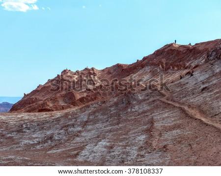 Valley of the Moon, San Pedro de Atacama, Chile. - stock photo