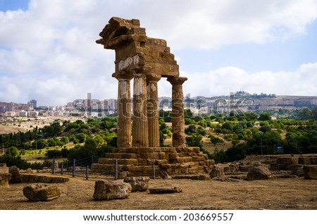 Valley of the Temples, Agrigento, Sicily  - stock photo