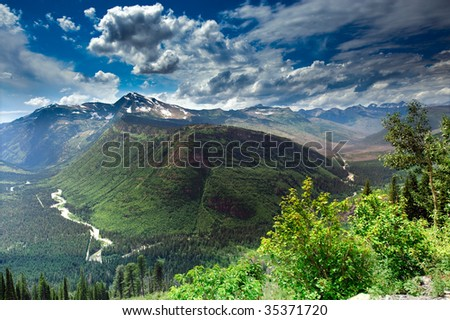 Valley View - stock photo