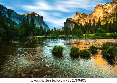 Valley View Yosemite - stock photo