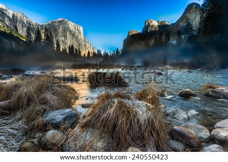 Valley View Yosemite National Park - stock photo
