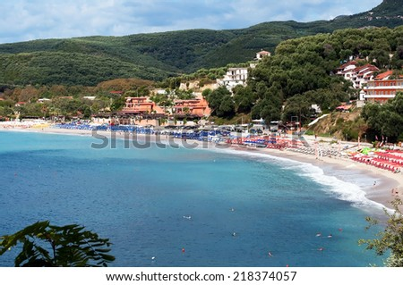 Valtos beach ,Parga,Greece. - stock photo