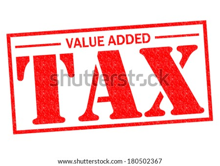 VALUE ADDED TAX red Rubber Stamp over a white background. - stock photo