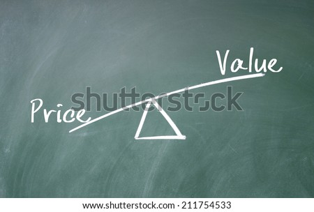 value and price concept - stock photo