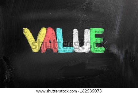 Value Concept - stock photo