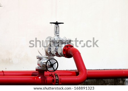 valve and pipe sent oil - stock photo