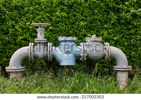 Valves and fittings. A large number of industrial water needs. - stock photo