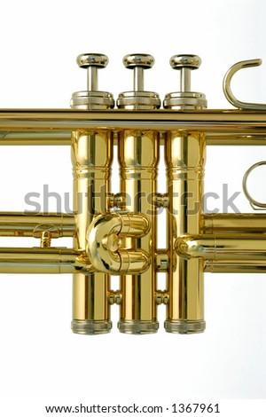 Valves of trumpet - stock photo