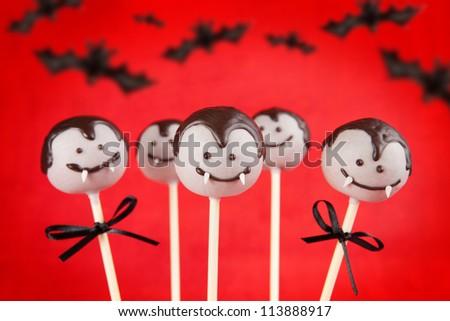 Vampire cake pops - stock photo