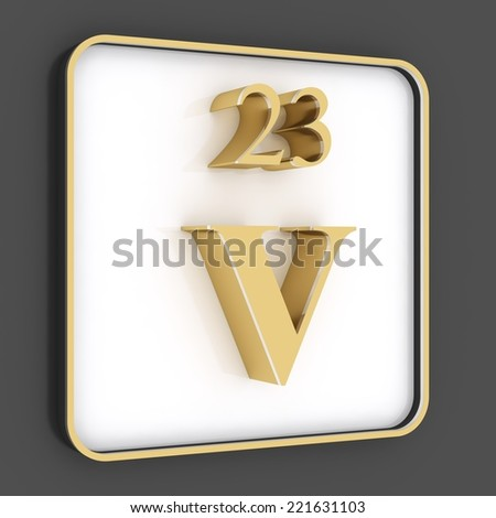 Vanadium stock photo - Vanadium symbol periodic table ...