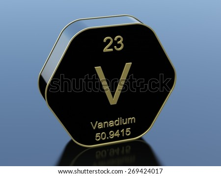 Vanadium stock photos images pictures shutterstock - Vanadium symbol periodic table ...