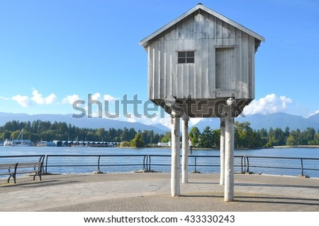 VANCOUVER, CA- MAY 27: Coal Harbor at Downtown Vancouver, and Lifestyle on May 27, 2016 in Vancouver, CA Vancouver has prominent buildings in a variety of styles by many famous architects. - stock photo