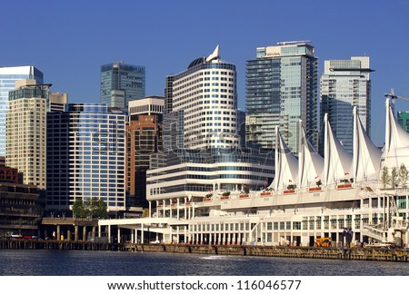 Vancouver Canada Place Pier - stock photo